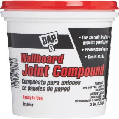 Dap 3 Lb. Pre-Mixed Latex Wallboard Drywall Joint Compound