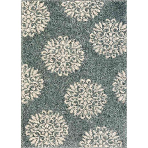 Mohawk Home Exploded Medallions Blue 5 Ft. x 7 Ft. Area Rug