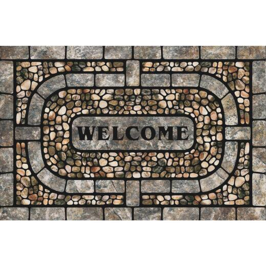 Mohawk Home 23 In. x 35 In. Gray Garden Pebbles Door Mat