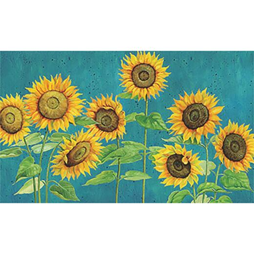 Mohawk Home 18 In. x 30 In. Sunshine Call Sunflowers Kitchen Anti-Fatigue Mat